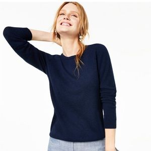 Charter Club Cashmere Crew Neck Navy Sweater Small
